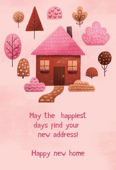 Happy New Home, Happy House, New Home Cards, House Of Cards, New Neighbor Gifts, Housewarming Wishes, Birthday Wishes, Birthday Cards, New Home Checklist