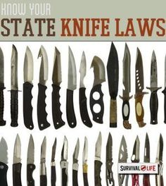 Knife Laws By State | The Ultimate List Guide For Your Knives By Survival Life http://survivallife.com/2014/10/16/is-that-switchblade-legal/