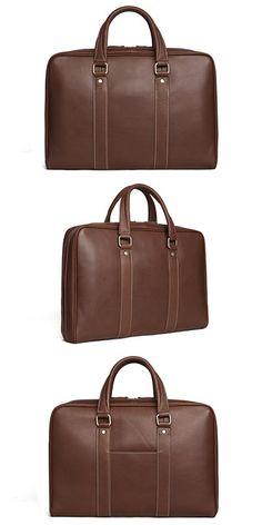 Leather Briefcase/ Messenger Bag/ Laptop Bag/ Men's Handbag