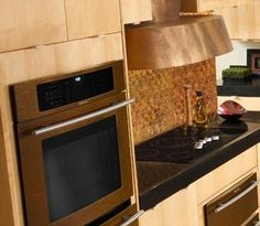 want the jenn air oiled bronze appliances SO BAD. House, Appliances, Home, Remodel, Kitchen Remodel, Home On The Range, Kitchen, Kitchen Reno, Double Wall Oven