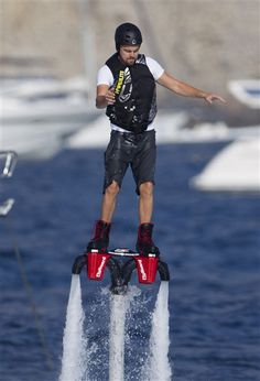 Leonardo DiCaprio Flies High Above Ocean on Jet Pack....Cool, but how many can afford $450 an hour?!