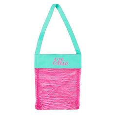 Personalized Pink Shell Tote Bag. by MonogramCollection on Etsy
