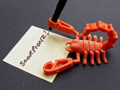 Scorpionz... with Rotating Tail and Pincers that Nip! by muzz64 - Thingiverse
