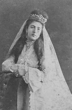 Armenian woman in wedding dress