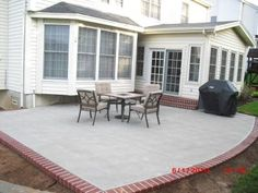 Good Traditional Concrete Patio With Faux Brick Edge I Would Use A Dark Grey Brick  Edge