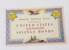 Vintage WW2 Postal Savings Plan  United States Defense