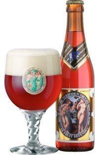 Cerveja Hoegaarden Verboden Vrucht , estilo Belgian Specialty Ale, produzida por Brouwerij Hoegaarden, Bélgica. 9% ABV de álcool.