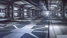 Hangar da Nave Espacial Marciana
