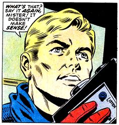 """Comic Boys Say.. """"What's that ? say it again mister ! it doesn't make sense ! '…"""