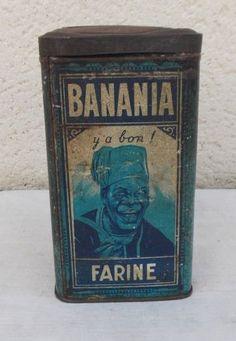 ANCIENNE BOITE TOLE PUBLICITAIRE CHOCOLAT BANANIA