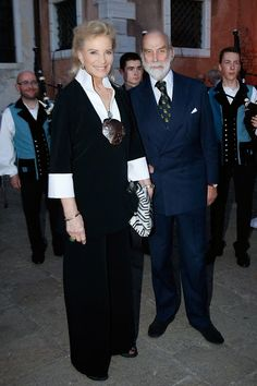 Princess Michael of Kent and Prince Michael of Kent attend the Dinner At 'Fondazione Cini, Isola Di San Giorgio', 2015 Venice Biennale on May 6, 2015 in Venice, Italy.