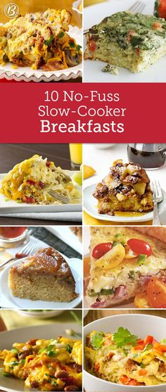 Delicious, filling and ready when everyone rolls out of bed, *these* are the slow-cooker breakfast recipes you need. From apple-y French toast to savory, Mexican-inspired egg bakes, there's bound to be a breakfast in this bunch you'll LOVE.