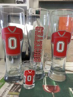 Ohio State Buckeyes Pilsners and Wine glasses by Yourlifeuncorked