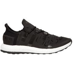 Y-3 Sport Men Ultraboost Approach Laser Cut Sneakers ($235) ❤ liked on Polyvore featuring men's fashion, men's shoes, men's sneakers, black, mens shoes, mens sneakers, mens black shoes and mens black sneakers