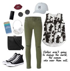 """""""A little bit of sun"""" by laura-rathbone on Polyvore featuring J Brand, Converse, Frends, Kate Spade, Lime Crime and NARS Cosmetics"""
