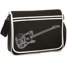 Joe Strummer Telecaster Guitar Retro Messenger Bag Satchel The Clash Ts390