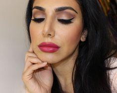 Stunning yet simple mu look Subtle Makeup, Natural Makeup, The Balm Makeup, Eye Makeup, Beauty Care, Hair Beauty, Huda Kattan, Hot Pink Lips, Matte Eyeshadow Palette