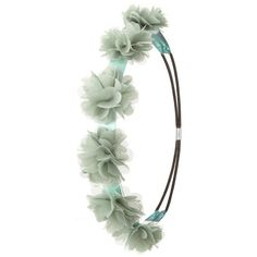 Charlotte Russe Green Rhinestone & Chiffon Flower Crown Head Wrap by... (£2.35) ❤ liked on Polyvore featuring accessories, hair accessories, hair, flower crowns, headband, green, flower garland headband, rhinestone hair accessories, headband hair accessories and head wrap headbands