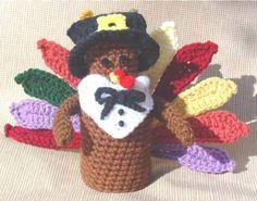 Maggie's Crochet · Free Turkey Mini Bottle Topper Pattern