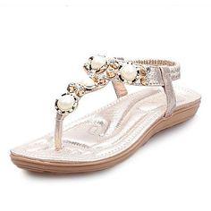 Women's Shoes  Flat Heel Open Toe Sandals Outdoor/Office & Career/Casual Silver/Gold – USD $ 24.99