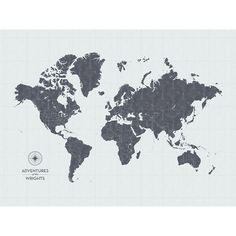 New ikea premiar world map picture with framecanvas large 55 x 78 push pin map of the world in vintage wash design at 30x40 more colors gumiabroncs Images