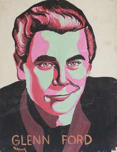 Vintage Glenn Ford Painting 1943  Midcentury by TheBlueTwig, $130.00