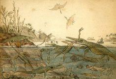Henry de la Beche – Duria Antiquior (1830)