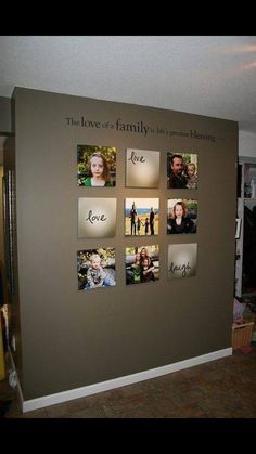 beautiful family picture wall idea home decor i really like this bc live love laugh is our living room theme my interior design ideas - Nice Wall Colors For Living Room