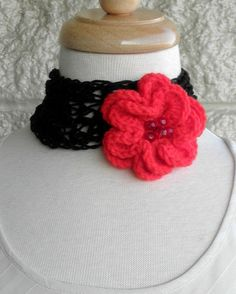 Necklace  Choker Crochet with Sparkly by endlesscreation on Etsy, $18.00