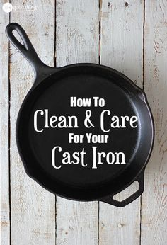 Properly seasoned and maintained, cast iron can last for literally generations! This is my super simple guide to cleaning and caring for your cast iron skillet.