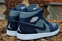 Air Jordan Mid 1 Georgetown Hoyas Kicks  www.JetLife.Co #JetLife