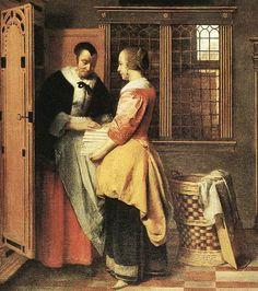 Pieter de Hooch, 'At the Linen Closet,' 1665