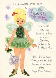 For A Darling Daugter... This Is Sparkle, The Sugar Plum Fairy. A Hallmark Paper Doll