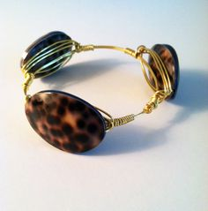 The Charleston  gold wire wrapped bracelet bangle by SOHbangles