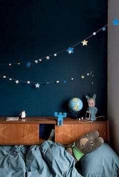 kinderzimmer deko ideen ausstattung in blaunuancen