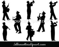 Marching Band Silhouette Vector Download Free