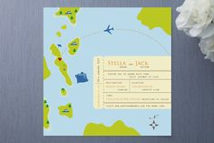 Board on Our Journey of Love Wedding Invitations by Sheila Sunaryo at minted.com {How fun.}