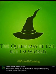 From Once Upon A Time, ABC. #WickedIsComing