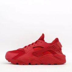 Nike-Air-Huarache-Mens-Trainers-Shoes-Sneakers-Triple-Red
