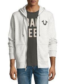 a31e89cce31 True Religion Front-Zip Horseshoe Hoodie Religion Clothing