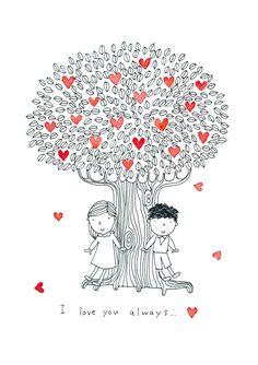 I love you always.. Original illustration.
