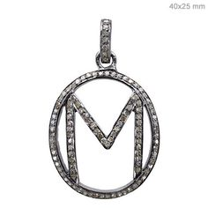 0 87 Ct Diamond Pave Fine 925 Sterling Silver M Alphabet Pendant Initial Jewelry Initial Jewelry, Initial Pendant, Diamond Gemstone, Diamond Pendant, Handmade Silver, Handmade Jewelry, 925 Silver, Sterling Silver, Vintage Inspired