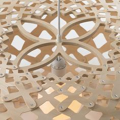 More lighting love: British naval architect and marine researcher David Trubridge 's gorgeous pendant lights from Design Within Reach . Home Lighting, Pendant Lighting, Bamboo Pendant Light, Lights Fantastic, Cnc Projects, Design Within Reach, Decorative Panels, House Made, Light Fittings