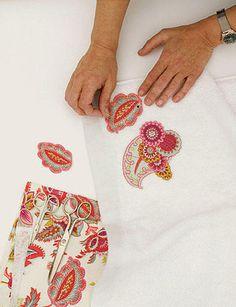 toallas decoradas tela | Con aplicaciones: paso a paso