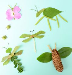 Crafts with natural materials in summer - 15 creative ideas for children - Insects tinker with natural material - Insect Crafts, Bug Crafts, Insect Art, Nature Crafts, Kids Crafts, Summer Crafts, Preschool Crafts, Crafts To Make, Beach Crafts