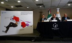 Members of Mexico's National Human Rights Commission deliver a report on the…