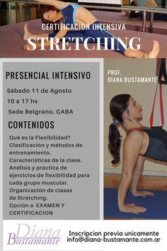 Certificate en STRETCHING en Agosto Buenos Aires  www.diana-bustamante.com.ar