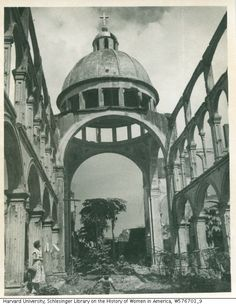 Title: Portraits of Mary Anglemyer and Dick Givens in Manila Work Type: photographs Creator: Anglemyer, Mary American), photographer Date: 1952 Historical Architecture, Architecture Design, Philippine Architecture, Intramuros, Waves Wallpaper, Manila Philippines, Filipino, Old Photos, Nostalgia