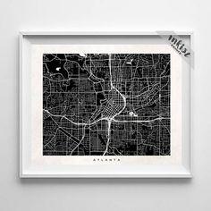 Atlanta Map Print, Georgia Print, Georgia Poster, Dorm Decoration, Dorm Decor, Street Map, Street Art, Wedding Gift, Christmas Gift, Wall Art. PRICES FROM $9.95. CLICK PHOTO FOR DETAILS.#inkistprints #map #streetmap #giftforher #homedecor #nursery #wallart #walldecor #poster #print #christmas #christmasgift #weddinggift #nurserydecor #mothersdaygift #fathersdaygift #babygift #valentinesdaygift #dorm #decor #livingroom #bedroom