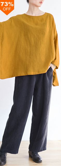 73%OFF&Free shipping. Women Batting Sleeve Pure Color Casual Loose Retro Blouses. Color: Black, Red, White, Yellow. Find all you need in baggood.com, shop now~